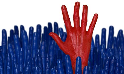 Red Hand Among Blue Leadership 500x300